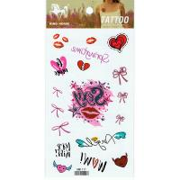 HM1111 Gril chest tattoo Waterproof body art tattoo sticker lip print fake tattoo sticker
