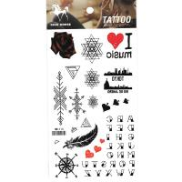 HM1113 Waterproof body art tattoo sticker rose english text mini red heart fake tattoo