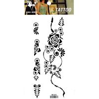 HM1093 Temporary black flower tattoo sticker fake tattoo body art tattoo