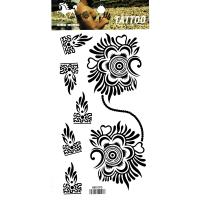 HM1090 waterproof Black temporary tattoo flower for men arm