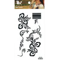 HM1080 Top sexy black flower temporary tattoo sticker body art tattoo