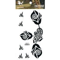 HM1075 Beautifull flower black tattoo sticker for arm