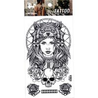 HM1013 Wolf girl arm tattoo sticker for men and women