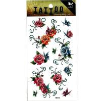 HM050 waterproof tempoary rose butterfly tattoo sticker mini flower tattoo