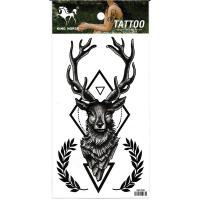 HM1008 special design black deer arm tattoo sticker