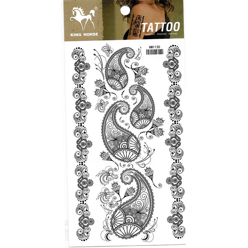 HM1130 New fashion Temporary body tatto sticker Bracelet anklet tattoo stickers