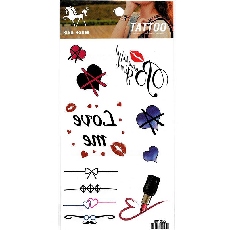 HM1066 fake tattoo sticker mini lip tattoo lipstick tattoo small tattoo sticker