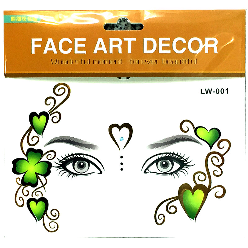 Party face tattoo sticker for adult people