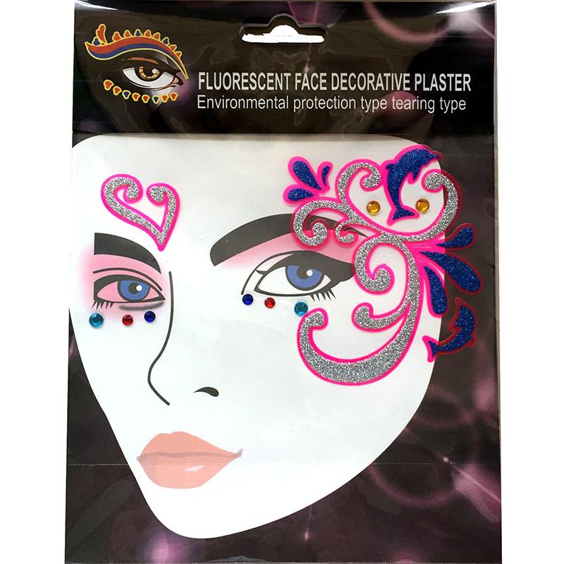 FST006 little birds dark pink Ladys party face decoration sticker