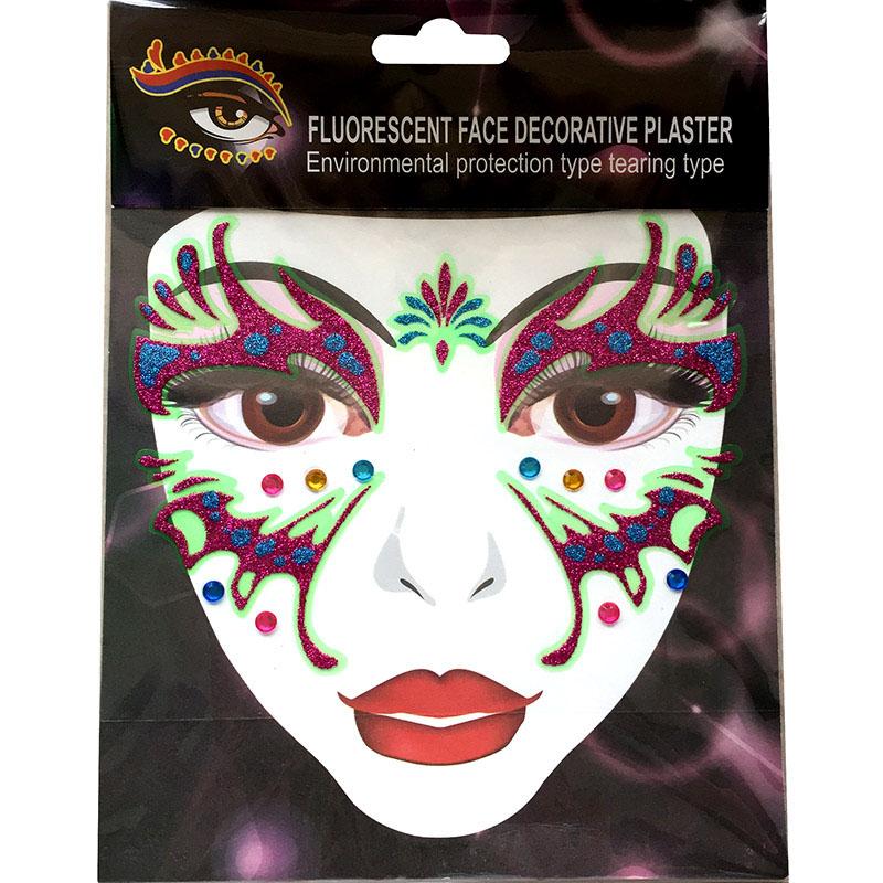 FST009 fashion glitter acrylic diamond face sticker
