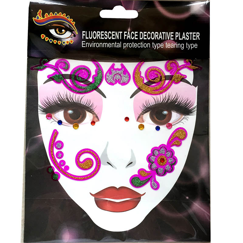 FST010 new fashion party face decoration crystal sticker