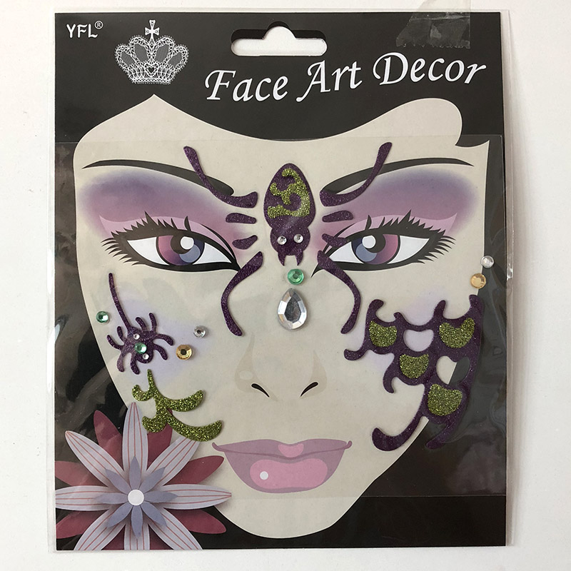 FST015 Face art decoration lady's part face sticker