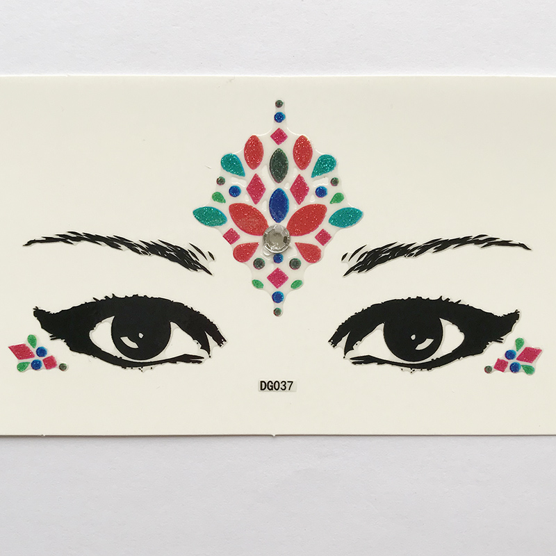 DG037 lady's party make up face sticker All in one face jewels sticker