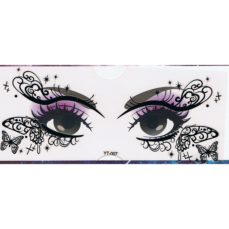 YT-007 new fashion makeup black eye stickers