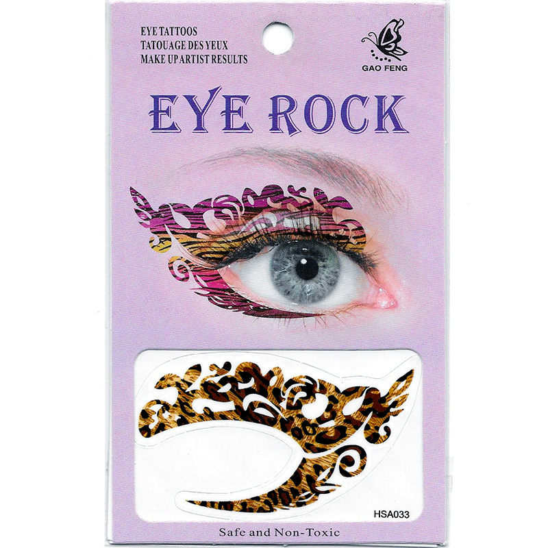 HSA033 left and right eye temporary tattoo sticker
