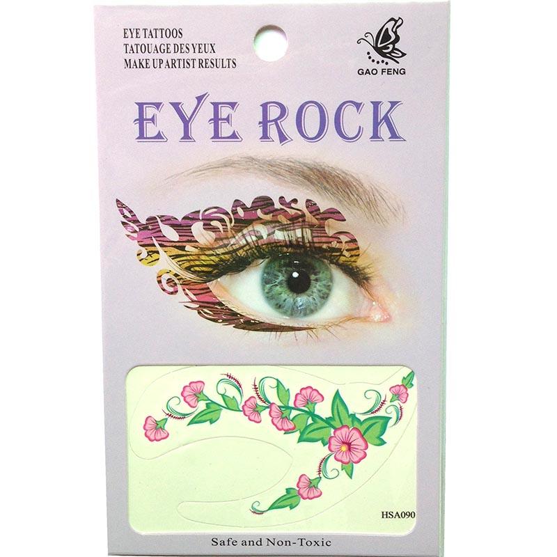 HSA090 morning glory temporary eye tattoo sticker