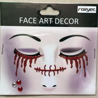 Halloween children adult people face sticker HW-EYE-004
