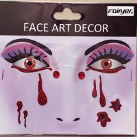 Halloween children adult people face sticker HW-EYE-005