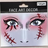 Halloween children adult people face sticker HW-EYE-006