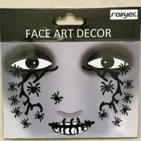 Halloween children black spider face sticker  HW-EYE-007