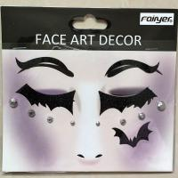 Halloween children adult people black eye sticker face sticker  HW-EYE-008