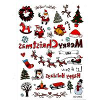 SD-2002Waterproof Merry Chrismas tattoo sticker