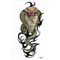 HM-033 Waterproof Temporary Snake arm tattoo stickers