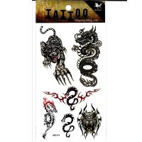 HM049-Tiger dragon body tattoo waterproof temporary tatoo sticker
