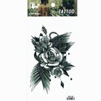 HM1108New fashion Temporary body art tattoo sticker arm tattoo leg tattoo wing rose tattoo sticker