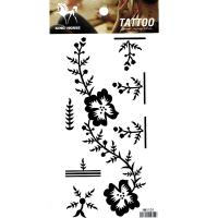 HM1101 Black color ladys arm flower tattoo sticker