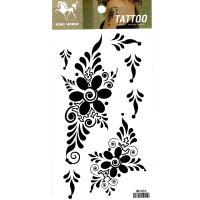 HM1094 Black flower tattoo sticker ladys arm tattoo waterprint body art tattoo