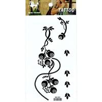 HM1082 Top fashion black flower tattoo sticker ladies arm fake tattoo
