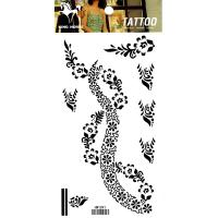 HM1091 Waterproof Temporary arm black flower tattoo sticker