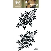 HM1078 Flower temporary tattoos for women black tattoo sticker