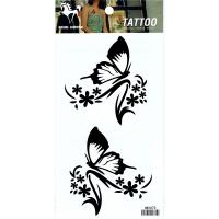 HM1073 Butterfly flower temporary tattoo sticker