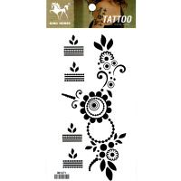 HM1071 fake tattoo waterproof temporary flower tattoo sticker