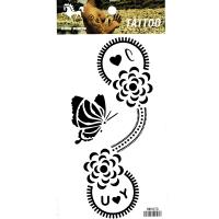 HM1070 unsex fake tattoo sticker black butterfly flower temporary arm tattoo