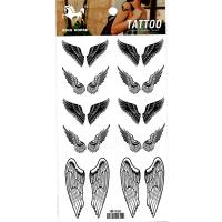 HM1065 Black Temporary 10pair wing tattoo sticker
