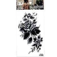 HM1050 Fake tattoo sticker waterproof black rose flower arm tattoo sticker