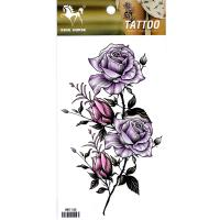 HM1145 New fashion Sexy purple rose tattoo sticker temporary leg tattoo sticker