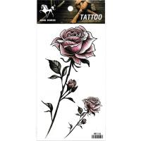 HM1044 new fashion ladys purple rose tattoo watertransfer fake flower hand tattoo sticker