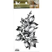HM1139 New fashion ladys leg grey peony flower tattoo sticker fake tattoo sticker