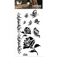 HM1122 Sexy beautifull rose flower butterfly tattoo sticker for younger girl
