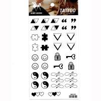 HM1030 Small tattoo sticker smile face symbol mini tattoo finger tattoo sticker