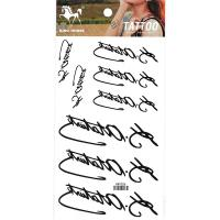 HM1026 Unsexy new fashion temporary tattoo letters black tattoos for boy and girls