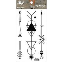 HM1031 Geometrical pattern body art tattoo sticker for men and women