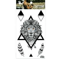 HM1012 Men arm lion black tattoo sticker waterproof termporary tattoo sticker