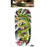 HM1011 Green dragon flower arm tattoo sticker for men and women