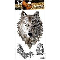 HM1002 waterproof temporary Men chest tattoo sticker