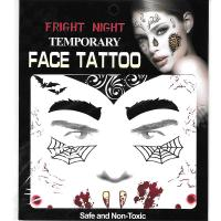 Halloween tempoary face tattoo sticker fake tattoo